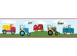 bordüre kinderzimmer selbstklebend roommates bordüre tapeten borte transportfahrzeuge selbstklebend