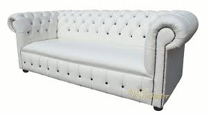 Chesterfield White Leather Sofa Chesterfield Fixed Seat Leather Sofa Offer White Leather Black