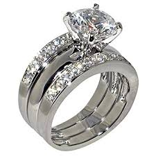 diamond wedding ring sets 3 47 ct shape cubic zirconia cz solitaire