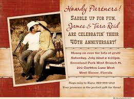 country wedding anniversary photo card cowboy western invitation