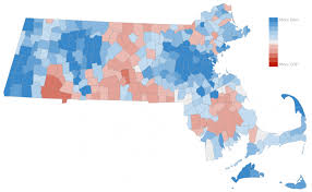 map of massachusetts counties a closer look at the mass map of clinton results politicker