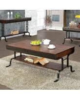 furniture of america crete vintage walnut coffee table surprise deal furniture of america coffee tables