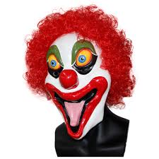 scary clown halloween mask x merry shock latex men u0027s scary clown mask x12017 x merry
