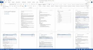 Spreadsheet Word Concept Proposal Template Ms Word