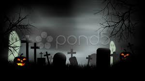 halloween graveyard background loop stock footage 7756483