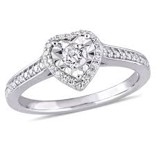 diamond heart ring 1 3 ct tw diamond heart ring in sterling silver