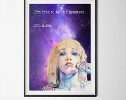Download Sia Chandelier Free Sia Poster Etsy