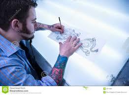 man designing tattoo stock image image of tattoo tattooed 2677993