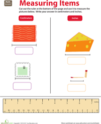 ruler reading centimeters and inches worksheet education com