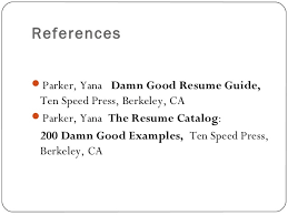Examples Of Resume References by Resume Writing Ppt Presentation