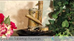 bamboo tabletop fountain by serenity health tt4278 youtube