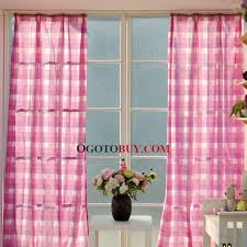Buy Discount Curtains Classical Plaid Cotton Linen Blend Fabric Cheap Curtain For