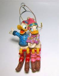 donald and duck ski lift ornament jim shore from