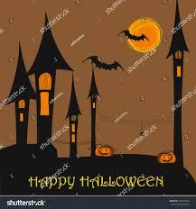 halloween background outlines vector halloween background illustration stock vector 109367936