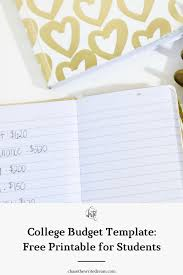 Money Budget Spreadsheet College Budget Template Free Printable For Students