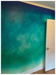 blue color wash walls fauxfinish color wash walls vintage