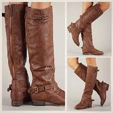 womens boots zipper back boots back zipper buckle rustic brown knee high