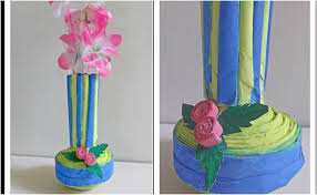 Best Out Of Waste Flower Vase How To Make A Flower Vase Out Of Paper