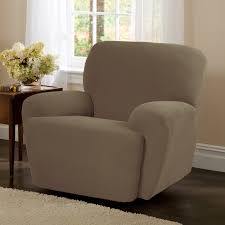 Recliner Chair Slipcovers Madison Industries Solid Jersey Recliner Cover Hayneedle