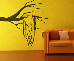 vinyl wall decal sticker dali style sad clock os mb329