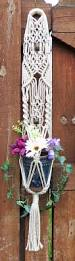 wedding decor hanging planter macrame pearl macrame plant