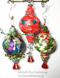 decoupage tissue paper ornaments smoothfoam
