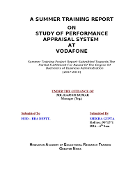 Performance Appraisal Report Sample 2348 Perforamnce Appaisal Process At Vodafone Hr Performance