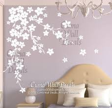 Cherry Blossom Wall Decal For Nursery White Cherry Blossom Wall Decals Flower By Cuma Wall Decals On Zibbet
