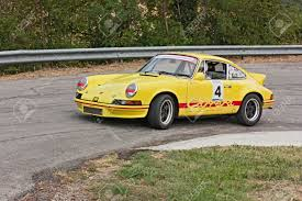porsche 911 racing history vintage porsche 911 t in hairpin bend at uphill race rally