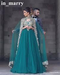 abayas kaftan muslim caped long evening gowns 2017 a line high
