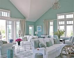 light blue and green living room interior design