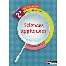 sciences appliqu s cap cuisine sciences appliquées 2e bac pro cuisine et restaurant livre cap