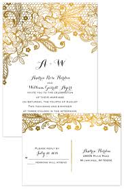 wedding invites cost gold lace invitation with free response postcard gold and wedding