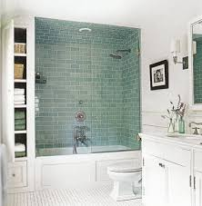 frosted sage green glass subway tile ceramic flooring bathtub