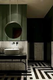 dark things bathroom ideas bold colors olive green black