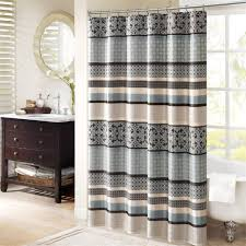 Teal Ruffle Shower Curtain by Coffee Tables Linen Shower Curtain With Ruffle Shower Curtain