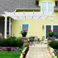 Attached Pergola Kits by Easy To Assemble Attached Pergola Kit 4 Advantages