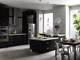gray kitchen walls with dark cabinets outofhome