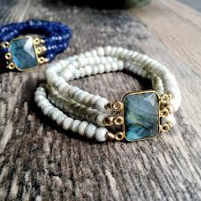 white beaded bracelet images Labradorite bracelet white bridal bracelet silverite bracelet