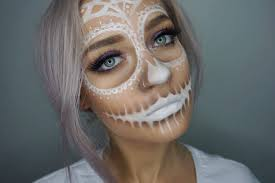 Sugar Skull Halloween Makeup Tutorial by Sugar Skull Halloween Makeup Sara Vidal Youtube