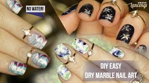 diy easy dry water marble nails 3 techniques review 42 youtube
