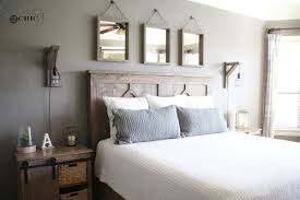 Rustic Bed Headboards by Diy Rustic Modern King Bed Shanty 2 Chic