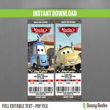 sports ticket invitation cars birthday ticket invitations luigi and guido instant