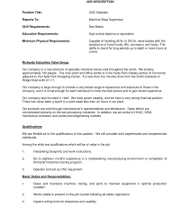 sle programmer resume machine operator warehouse production professional machinist