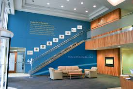 corporate interiors image walls room custom wallpapers boston