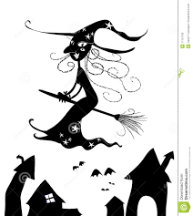halloween witch silhouette vector royalty free stock image image