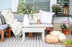 Fall Porch Decorating Ideas Neutral Fall Porch Decorating Ideas And Tour Maison De Pax