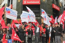 Huelga Flag Huelga De Scotiabank Día Uno