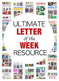 the ultimate letter of the week resource for preschool weather
