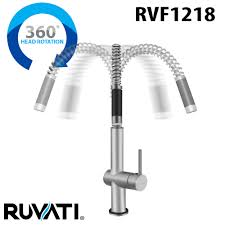 ruvati rvf1218b1st modern pullout kitchen faucet with deck plate